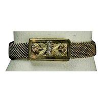 Victorian Adjustable Gold Fronts Mesh Bracelet c.1884