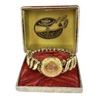 Very Rare Carmen Locket Stretch Bracelet in Box