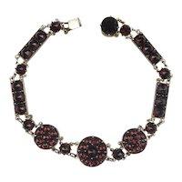 Unique Victorian Bohemian Garnet Bracelet