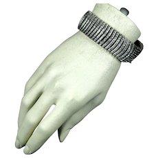 Stunning RARE Wide Art Deco DRGM Crystal Bracelet