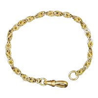 Intricate Victorian Gold Filled Knotted Link Chain Bracelet