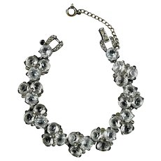 Sparkly Art Deco Crystal Rhodium Bracelet