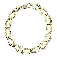 Victorian Gold Filled Twisted Oval Link Bracelet