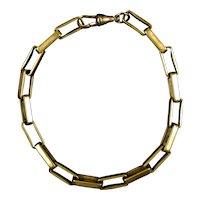 Victorian Rose Gold Filled Rectangular Link Bracelet