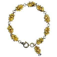 Lovely Gold Filled Reversible Flowers Bracelet