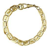Victorian Rose Gold Filled Reversible Link Bracelet