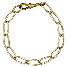 Victorian Rose Gold Filled Twisted Oval Link Bracelet