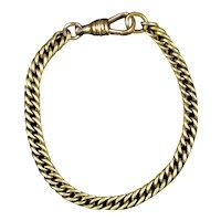 Victorian Gold Filled Interlocking Link Bracelet