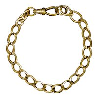 Victorian Rose Gold Filled Double Twisted Oval Link Bracelet