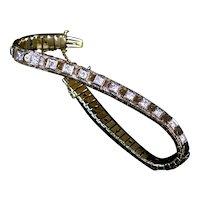 Special Art Deco 14K Gold Diamond Line Bracelet