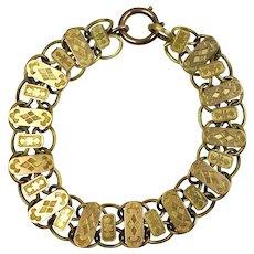 Antique Victorian 18K Rose Gold Book Chain Bracelet  Wide  Unisex  VERY RARE