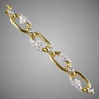 Stunning 18K Gold Diamond 3.35ctw Bracelet Superior Quality