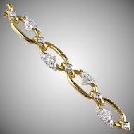 Stunning Vintage 18K Gold Diamond 3.35ctw  Bracelet  Top Quality  Exquisite Design