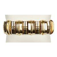 Exceptional Retro 1940s 14K Rose Gold Tank Bracelet