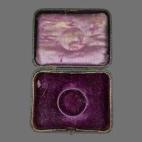 Antique Leather Bangle or Bracelet Display Presentation Box RARE