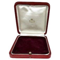 Large Antique Spanish Jewelry Display Presentation Box RARE