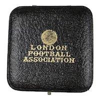 Antique London Football Jewelry Display Presentation Box RARE