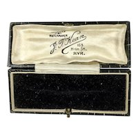Antique Scottish Jewelry Display Presentation Box RARE