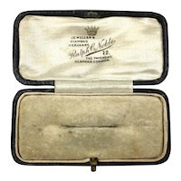 Antique English Brooch Jewelry Display Presentation Box RARE