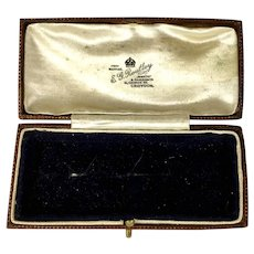 Antique English Jewelry Display Presentation Box RARE