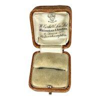 Antique English Ring Display Presentation Box RARE