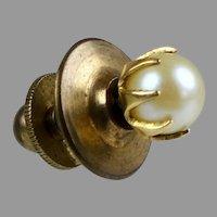 Vintage 14K Cultured Pearl Tie Tac