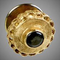Vintage 14K Gold Black Sapphire Tie Tac Pin