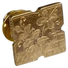 Victorian Gold Fronted Tie Tac or Pin