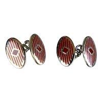 Vintage Art Deco Double Sided Enamel Cufflinks