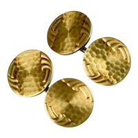 Art Deco Krementz Gold Filled Double Sided Cufflinks