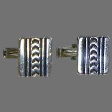Retro Sterling Silver Cufflinks