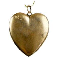 Victorian 10K Gold Heart Locket Pendant