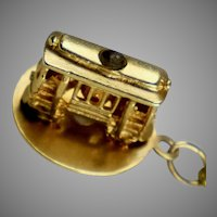 Vintage 14K Gold Trolley Cable Car Charm Stanhope