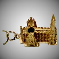 Vintage 14K Gold St. Patrick's Cathedral Charm