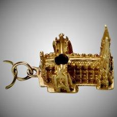 Vintage 14K Gold St. Patrick's Cathedral Charm
