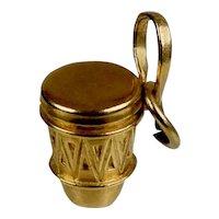 Vintage 14K Gold African Drum Charm