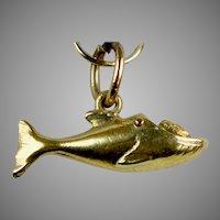 Vintage 14K Gold Whale Charm