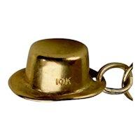 Vintage 10K Gold Leprauchan or Alpiine Hat Charm