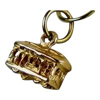 Vintage 14K Gold Trolley Cable Car Charm