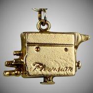 Vintage 14K Gold TV Camera Charm
