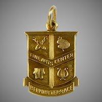 14K Gold Charm Belvoir Terrace Crest
