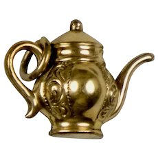 Victorian Gold Filled Teapot Charm Pendant