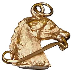 Victorian Gold Filled Horse Equestrian Charm