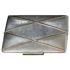 Art Deco Sterling Silver & 18K Gold Purse or Case