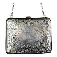 Art Nouveau Sterling Silver Purse or Business Card Case