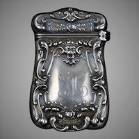 Art Nouveau Sterling Silver Match Safe Box Strike Vesta