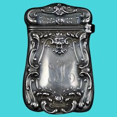 Art Nouveau Sterling Silver Match Safe Box Strike Vesta