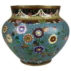 Antique Very Detailed Japanese Cloisonne Enamel Vase