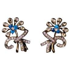 Pennino Sterling & Crystal Flower Earrings