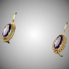 Delicate Vermeil Amethyst Drop Earrings